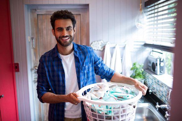 separar as roupas antes de lavar